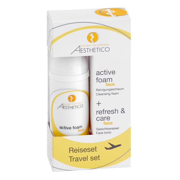 AESTHETICO Reiseset (refresh & care + active foam)  2x50 ml